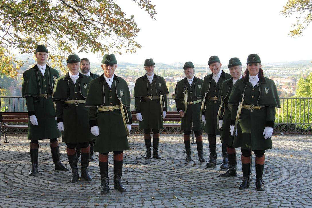 Parforcehorn Bläserkreis Nordheide 2012 auf Schloss Blankenburg